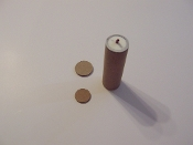 Cardboard 4 inch fused tube & disk set for 37mm MLR shells